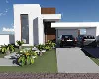 Residência luxuosa em condomínio: Ambientes integrados [Padrão Loft]